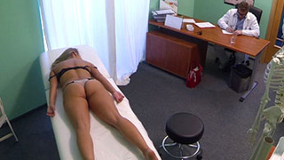 Cute young blonde on sex terapy at FakeHospital