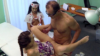 Patient shares Doc cock with Zoombie nurse at Fake Hospital